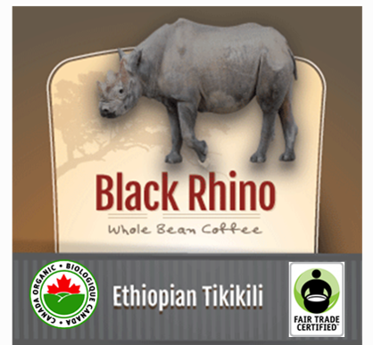 Fair Trade Organic Black Rhino Ethiopian Tikikili