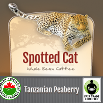 Fair Trade Tanzanian Peaberry Organic Spotted Cat | 32oz