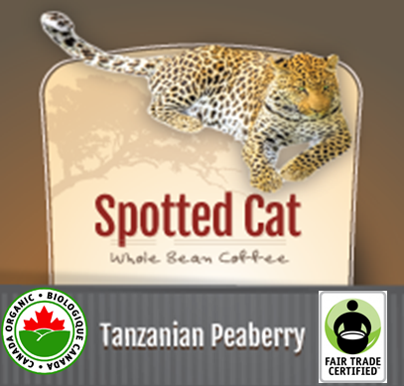 Zawadee Fair Trade Tanzanian Peaberry Organic Spotted Cat
