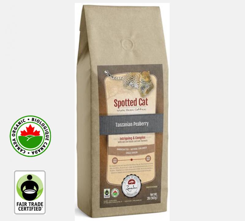 Zawadee Fair Trade Tanzanian Peaberry Organic Spotted Cat | 32oz