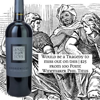 Titus Andronicus Red Wine 2018