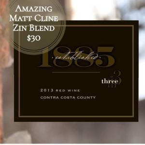 2013 Three Wine Company Established 1885