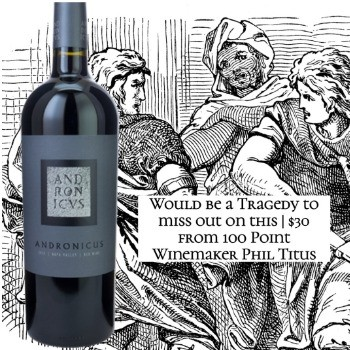 Titus Andronicus Red Wine 2016